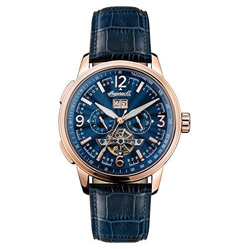 Ingersoll Herren Chronograph Automatik Uhr mit Leder Armband I00301