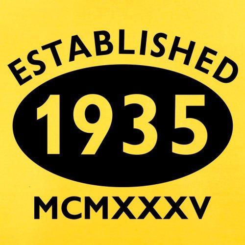 Gegründet 1935 Römische Ziffern - 82 Geburtstag - Herren T-Shirt - 13 Farben Gelb