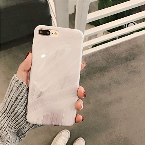 UMCCC Handy Fall iPhone X/iPhone 7/8 Plus All-Inclusive Anti-Drop Tragen Persönlichkeit Art Shell,White,8Plus (Samsung Fall Louis Vuitton)