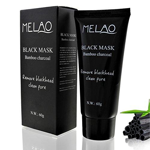 #Melao | Bambus-Aktivkohle Peel Off Maske mit natürlichen Wirkstoffen | Black Mask – schwarze Maske – Gesichtsmaske schwarz | Anti Mitesser Maske – Blackhead Maske | Tiefenreinigender Mitesserentferner für eine gesunde und schöne Haut | 60g#