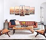 La Vie 5 Teilig Wandbild Gemälde Eiffelturm Unter der Sonne Moderne Kunstdruck Hochwertiger Leinwand Bilder Poster Drucken für Zuhause Wohnzimmer Schlafzimmer Küche Hotel Büro Geschenk