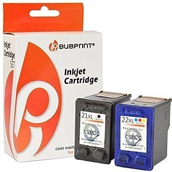 Bubprint 2 Druckerpatronen kompatibel für HP 21 22 XL für