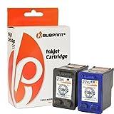 Bubprint 2 Druckerpatronen kompatibel für HP 21 22 XL für Deskjet F2180 F2224 F2280 F370 F375 F380 F4180 D1360 D2360 D2460 PSC 1410 1415 Schwarz Farbe