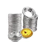 Milopon Einweg Aluminium Alufolie Muffinformen Muffinform Cupcake, Keks, Kuchen, Pudding,Backform Torteletts