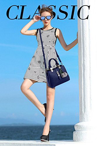 Nicole&Doris 2017 neue Welle Paket Kuriertasche Damen weiblichen Beutel Handtaschen für Frauen Handtasche(Gray) Blue