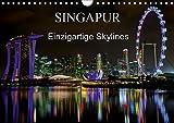 Singapur - Einzigartige Skylines (Wandkalender 2019 DIN A4 quer): Beeindruckende Aufnahmen einer asiatischen Metropole (Monatskalender, 14 Seiten ) (CALVENDO Orte) -