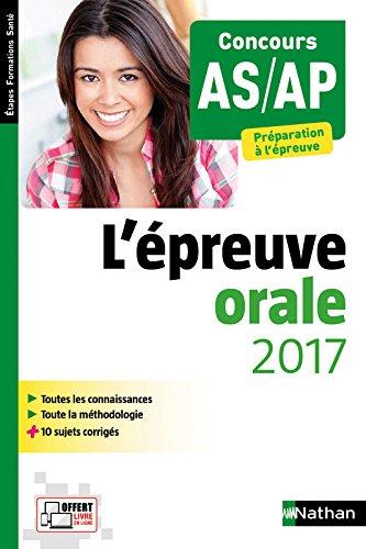 Épreuve orale 2017 AS/AP - Préparation à l'épreuve