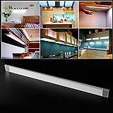 BAODE Ultraslim Plafoniera a Pannello 6W/40cm/Bianco Caldo Lampada a LED da Cucina Incasso Mobili con Spazzola Manuale Sensore