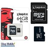 Original Kingston MicroSD SDHC Speicherkarte 64GB Für Samsung Galaxy S7 Duos G930F