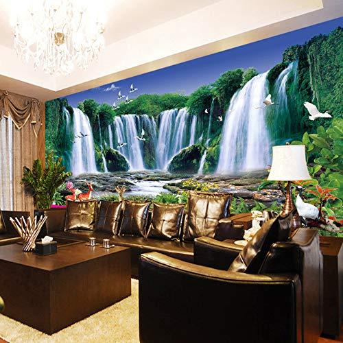 Preisvergleich Produktbild ZCHENG Große benutzerdefinierte TV Sofa Hintergrund Wandbild Malerei Landschaften Tapete 3D wasserdichte 3D-Tapeten,  400x280 cm (157, 5 x 110, 2 in)