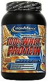 IronMaxx 100% Whey Protein Pulver – Eiweißpulver mit 100% Proteinkonzentrat – Wasserlösliches Fitness Pulver mit Erdnussbutter Geschmack – 1 x 900 g Dose