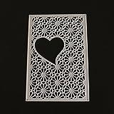 FNKDOR Fustelle per Fustellatrice Fustella Scrapbooking Metallo Embossing Cutting Dies Stencil DIY Foto Album, Accessori per Big Shot e altre macchina (D)