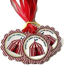 Adorebynat Party Decorations - EU Big Top carpa de Carnaval Circo del favor de Etiquetas -