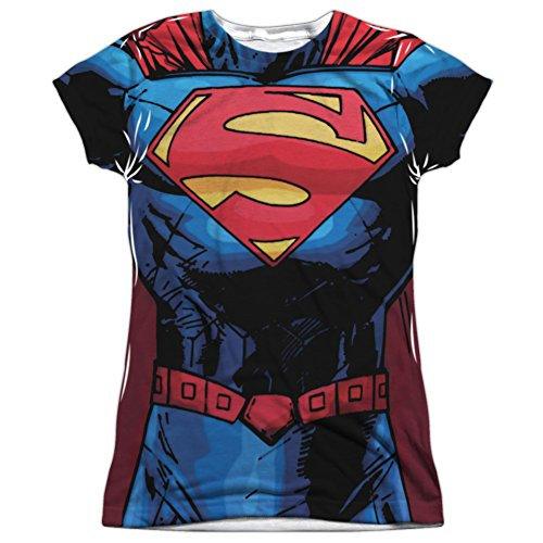 Reeve Kostüm Superman - Superman DC Comics Superheld 52 Kostüm Junior Front Print T-Shirt Tee Tee - Weiß - Mittel