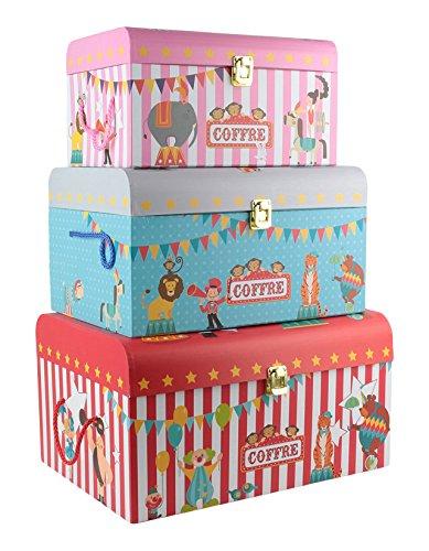 013Stück Aufbewahrungskoffer, Papier, mehrfarbig 40,70x 29x 22cm (Paris Themen-spiele)
