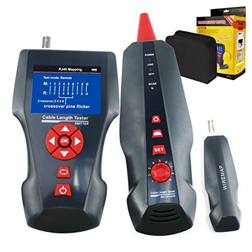 Multifunktions-Netzwerkkabel Tester Tracker STP/UTP 5E 6E Netzwerk-Telefon koaxial Kabel gemeinsamen Metalldraht fur RJ45 RJ11 BNC PING/PoE