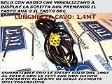 G.M. Production 400500608559 - Kabel für serienmäßige Autoradios, nur mit AUX am Display, Schlüssel zum Ausrasten des Radios im Lieferumfang enthalten