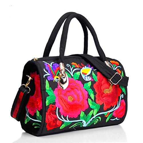 Peony ricamo Handbags–Memorecool Portable design for Girls Lady stile elegante e bella sentimenti 470g flower8 flower8