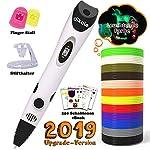 3D Pen with PLA Filament Refills - Dikale 07A【Newest Version】3D Doodler Drawing Printing Printer Pen Bonus 12 Colors 120 Feet PLA 250 Stencil eBook for Kids Adults Arts Crafts Model DIY, Non-Clogging