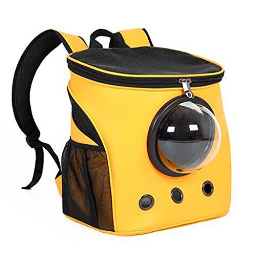 UU Transportboxen für Katzen Cat Pack Out Portable Rucksack Aus Hund Pack Space Pack Katze Rucksack (Farbe : Gelb) -