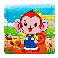Fliyeong Wooden Puzzle - Baby Kids Training Toy Monkey Durable and Practical