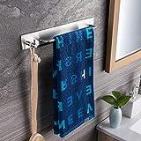 Ruicer Auto-Adhésif Porte-serviettes avec des Crochets Porte serviette Acier...