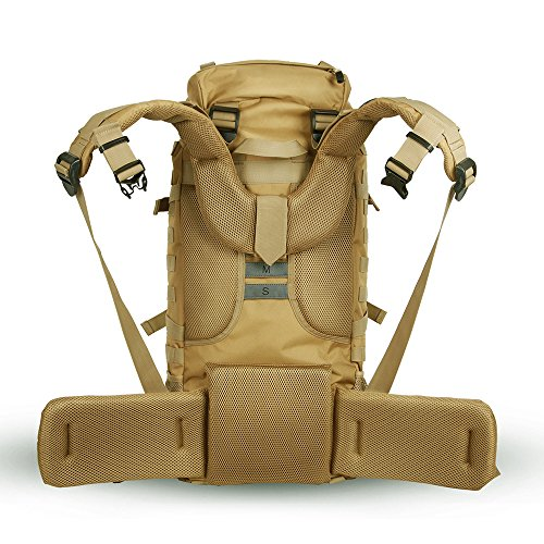 Skysper® 50L zaino di alta qualità resistente all'acqua viaggio Escursionismo dello Zaino 70L-yellow