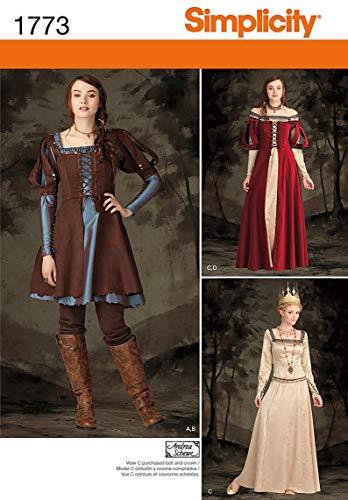 Kostüm Dress Front - Simplicity Muster 1773.r51422Schnittmuster Kostüm