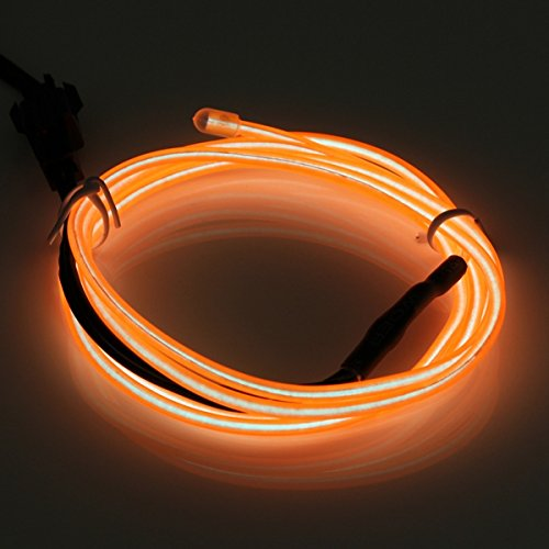 MASUNN 1M USB Flexible El Wire Neon LED Strip Licht Glüh Seil Schlauch Party Dekoration Mit Inverter 5V-Orange - Orange-seil-licht