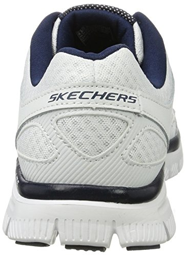 Skechers Flex Advantage- Master Plan, baskets sportives homme blanc (WNV)