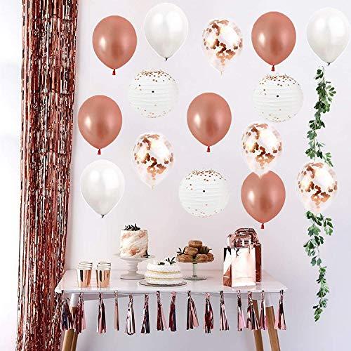 wer Dekoration Kit Engagement/Birthday Party Dekoration Ballon mit grünen Blättern Garland String künstliche hängende Blätter Reben Indoor/Outdoor Hochzeit Dekor Party Supplies ()