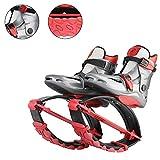 YXMxxm Scarpe da Salto Unisex - Scarpe Trampolino per Fitness, Corsa, Pallacanestro,Taglie Multiple - Stivali da Corsa Anti-gravità,Red,XL