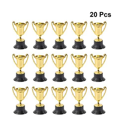NUOBESTY Trofeo di Coppa 20 Pezzi trofei di plastica per competizioni per Bambini premi Feste bomboniere Oggetti di Scena premi premi Giochi Scuola Oro