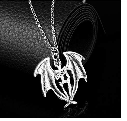 Zmnbaa Mode Ausgehöhlt Halsband Halskette Leuchtende Fledermaus Halskette Halloween Im Dunkeln Leuchten