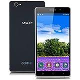 Uhappy UP580 6,0'' Zoll 3G-Smartphone Quad Core 1.3GHz Dual SIM Handy ohne Vertrag RAM 1GB 8GB ROM Android 5.1 Dual 8MP+5MP Kamera WIFI GPS Schwarz