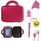 "E-den ® Ingo 7""Kids (7pulgadas) Tablet Funda–cool coche de carreras niños bolsa, únicamente la carcasa rosa Gift Set 7 pulgadas"