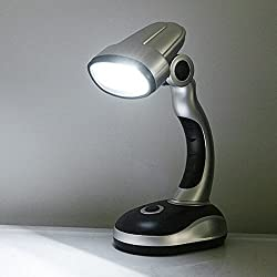 VelVeeta 12 LED Bulb Desk Lamp Portable Light Home Office Computer Battery Operated (Not Included)