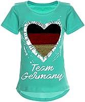 BEZLIT Deutschland Mädchen Wende Pailletten WM 2018 Fan Fussball T Shirt 22512