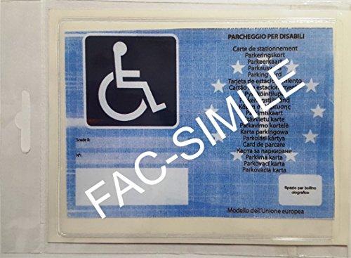 Quattroerre 1609Tasche-Kennzeichen Parkplatz Behinderte