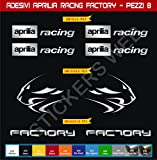 Selbstklebend Stickers-Racing Factory Kit Aprilia Löwe 08?SCEGLI Colore- Motorrad Cod. 0118 - Argento cod. 090