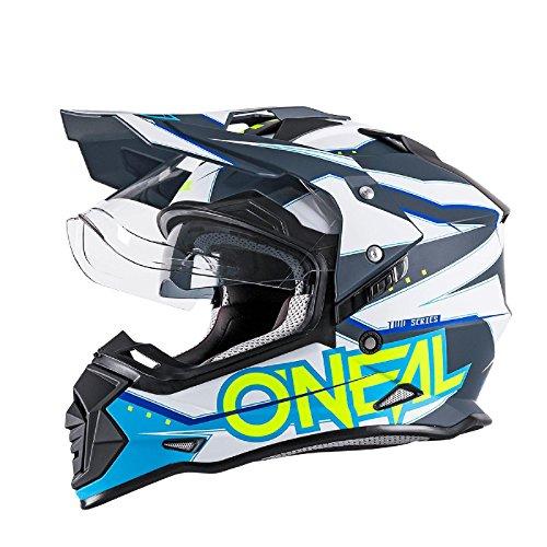 O\'Neal Sierra II Helm Slingshot Blau Motorrad MX Moto Cross Offroad DH MTB Dual Sport, 0817-00, Größe 2XL
