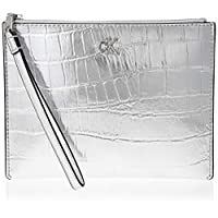 Calvin Klein Monogram Hardware Wristpouch C Wallet, Grey, 21 cm, K60K606634