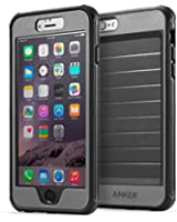 iPhone 6s Plus Case, Anker Ultra Protective Case With Built-in Clear Screen Protector for iPhone 6 Plus / iPhone 6s Plus (5.5 inch) Drop-Tested, Dust Proof Design (Black/Grey)