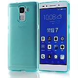 "Arbalest® Funda Huawei Honor 7, [Jelly Series] Prima Slim Funda Gel TPU Silicona Case Cover Para Teléfono móvil HUAWEI HONOR 7 de 5.2"", Turquesa"