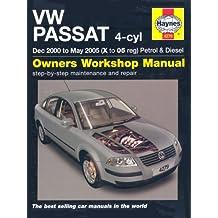 VW Passat 4-cyl Petrol and Diesel Service and Repair Manual: 2000-2005 (Service & repair manuals)