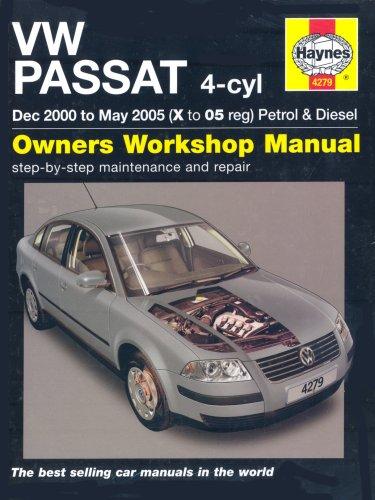 VW Passat 4-cyl Petrol and Diesel Service and Repair Manual: 2000-2005 (Service & repair manuals) por A. K. Legg
