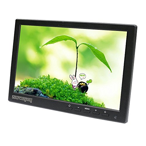 Sourcingbay 10 Inch LED IPS HD Color display screen smaller Monitor 1280*800 Video Monitor display display screen USB/HDMI/BNC/VGA/Video/Audio enter by using universa management for PC CCTV Camera UK