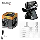 SmartFan Mini - Stove Fan with Twin Fan for Self-Cooling for Wood Burning Stoves