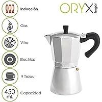 Oryx 5056023 Cafetera Inducción Aluminio 9 Tazas (450 ML