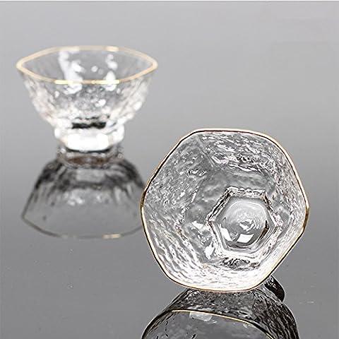 ChocoHoney martello Pattern tazze da tè e caffè, Set di 2 Crystal